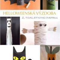 Nápady na Halloweenskou výzdobu z toaletního papíru