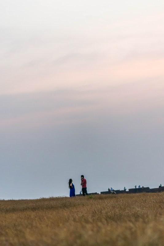 couple at chapora fort goa