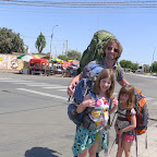 Leaving Nazca withour backpacks on