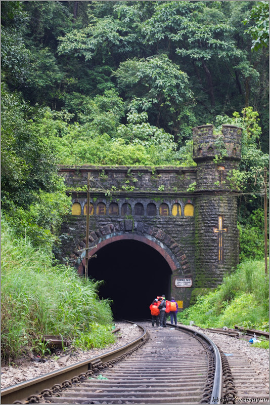 One of the tunnels - Doodhsagar Trek