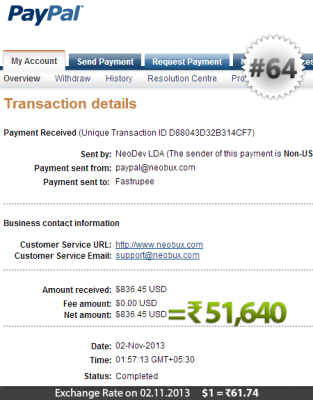 Neobux Payment Proof 64