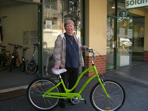 Susan and her Townie 3 in Green Tea