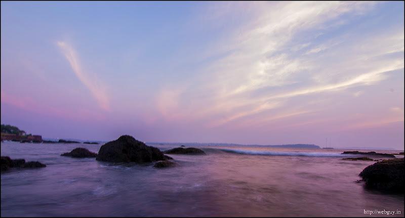A Goan sunset agauda beach