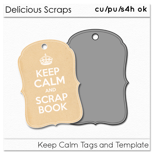 Free CU Keep Calm Tags and Template
