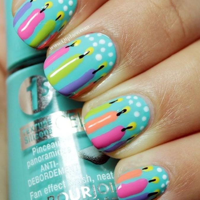 stylish nail art ideas happy