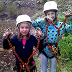 The kids get their climbing gear!