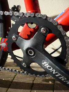 Custom 38t Cycle Underground chainring. 5083 aluminium alloy aka 'armour-plate'.