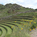 The signature terraced farming of the Inca.