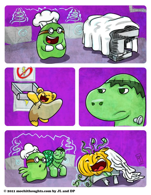 Cute Comic, Franken Mochi