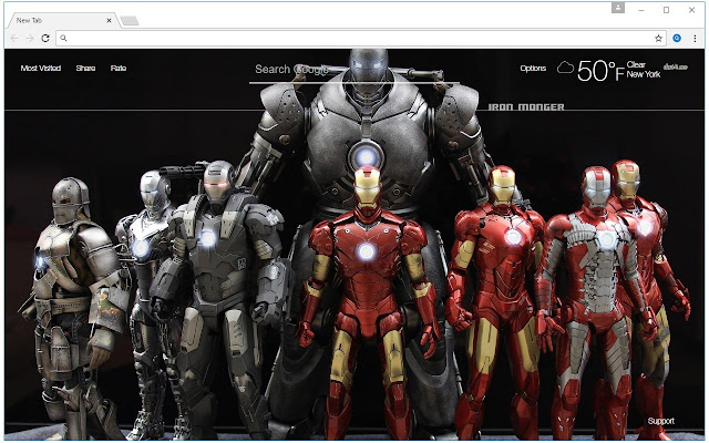 Iron Man Wallpaper HD New Tab Themes   Chrome Web Store Overview