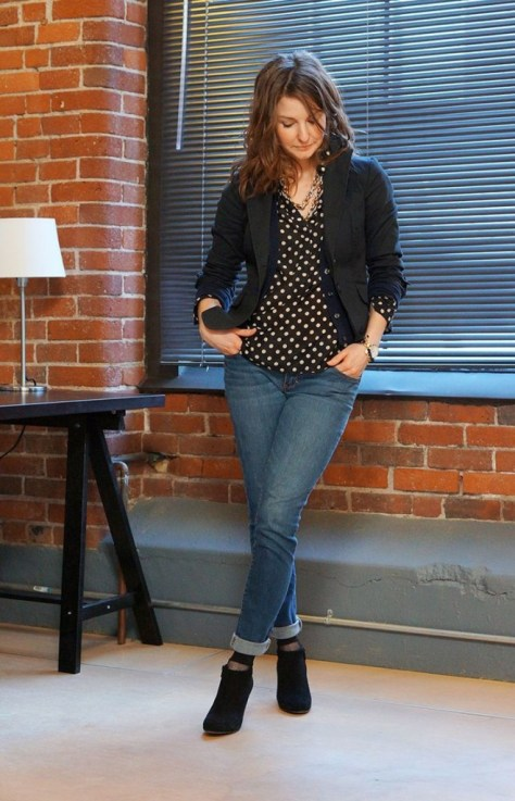how to wear booties with jeans 2015