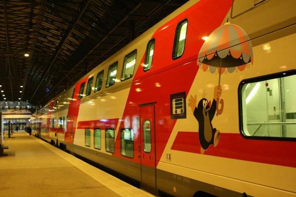 Finnische Züge tragen oft lustige Bemalungen