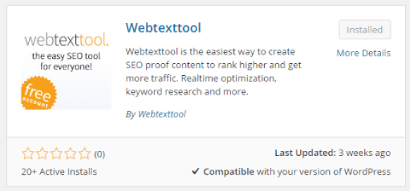 Webtexttool SEO Plugin