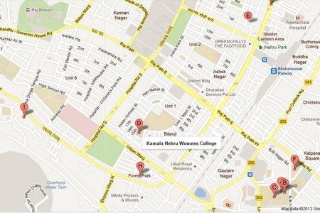 kamala nehru womens college bhubaneswar area map