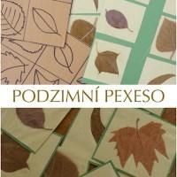 Hraní s podzimním listím - pexeso a přiřaď co kam patří