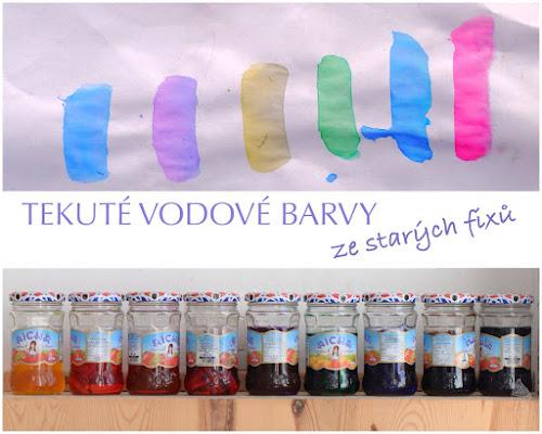 Tekuté vodové barvy DIY