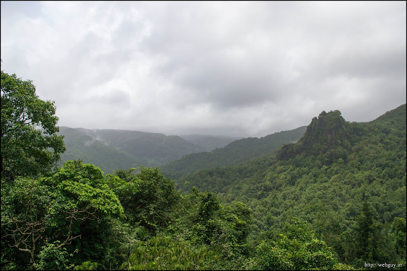 Monsoon clouds and the green forests - Dudhsagar Trek