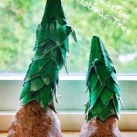 Vánoční stromky z plata od vajíček - vánoční tvoření pro malé děti