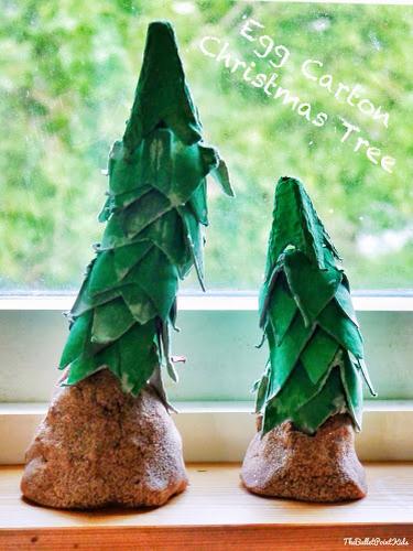 Tvoření plato od vajec vánoční stromeček