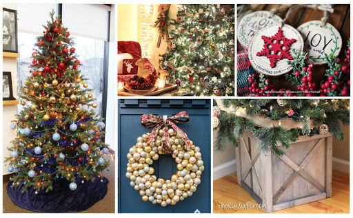 100 Christmas Tree and Wreath Decorating Ideas   The Kim Six Fix 100 decorating ideas for christmas trees and wreaths