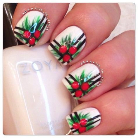 christmas nail art collection trends  styles 7