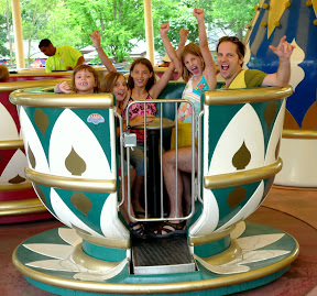This was the queasiest teacup ride I've ever been on.