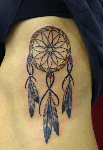 ribs Dreamcatcher Tattoos