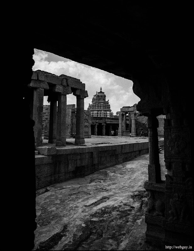 A temple on the other side of the compound - Lepakshi
