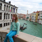 Emma on Rialto Bridge, Venice