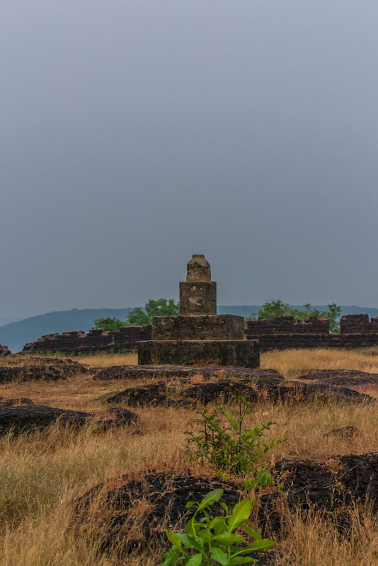 A stone - marker within the fort compound, Chapora Fort - Goa