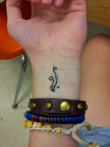 small wrist tattoo