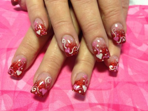 cute valentines day nails designs 2016  styles 7