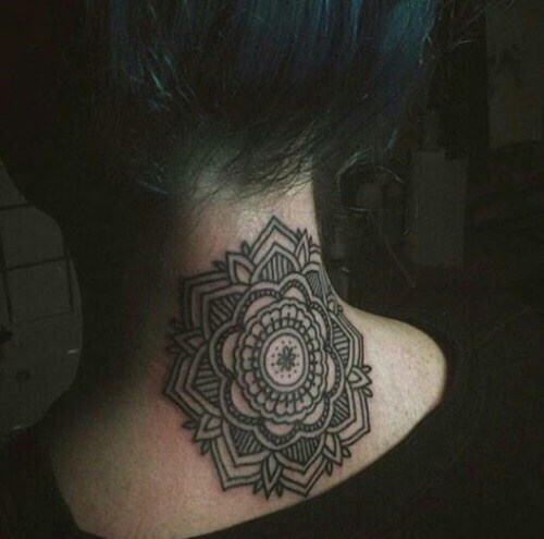 40 Beautiful Back Neck Tattoos For Women: 50 Most Beautiful And Attractive Neck Tattoos For Men And