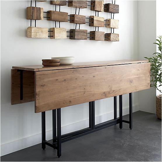 Mesa plegable para comedores polivalentes - Consolas que se convierten en mesas de comedor ...