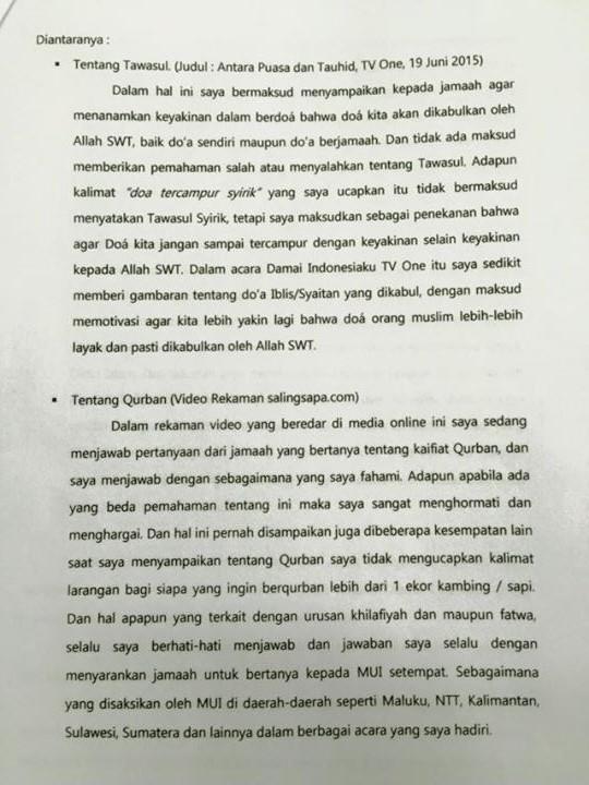 Surat Terbuka Ali Jaber 2