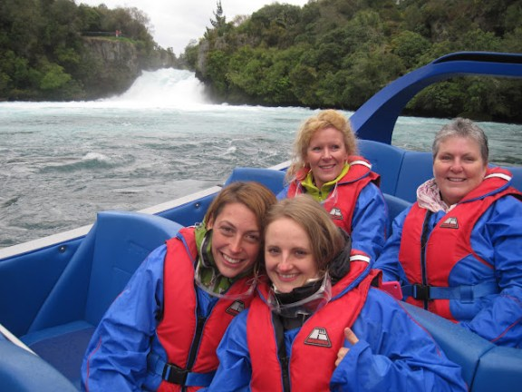 Jetboating at Huka Falls Jet, Taupo, New Zealand