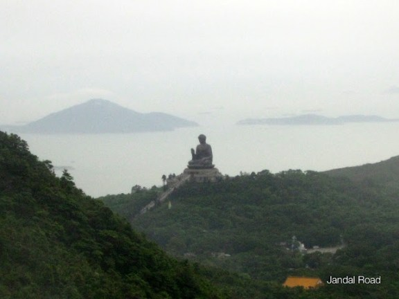 The Tian Tan Buddha, viewed from the Ngong Ping cable car