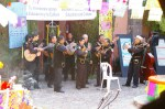 Mariachis playing in the courtyard of a Public Library in San Miguel de Allende, Mexico.