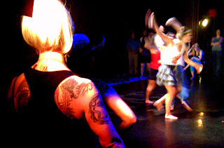 The dance show was an interactive club/concert scene where the audience gets to dance.