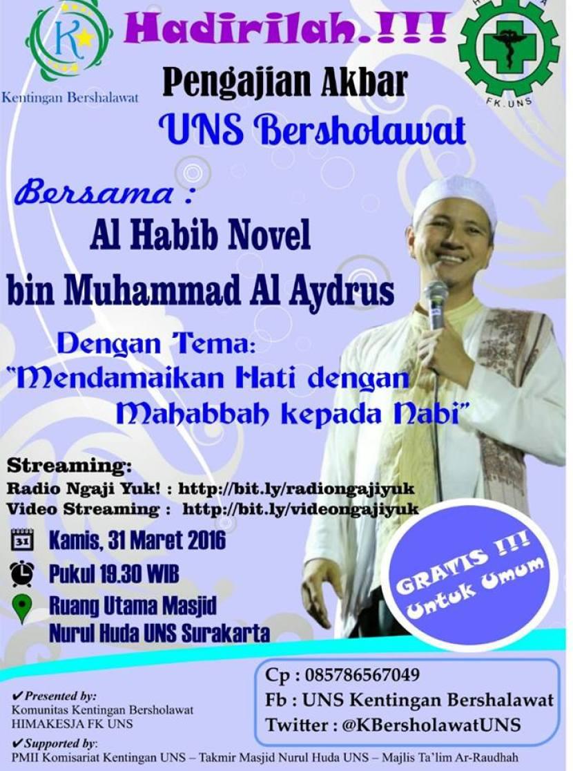Hadirilah Kajian Masjid NH UNS Solo Bersama Habib Novel Alaydrus