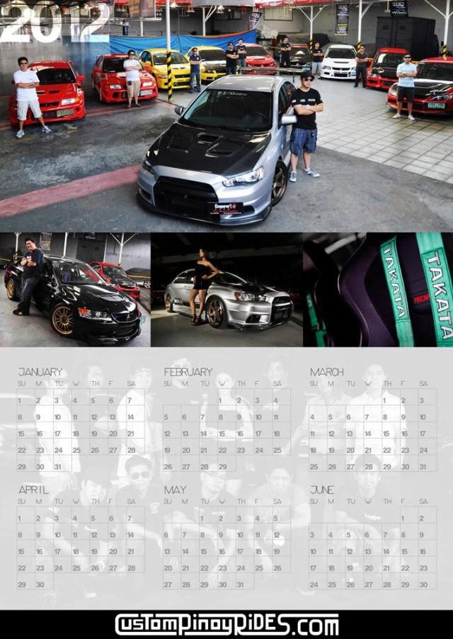 LanEVO Club Philippines Custom Pinoy Rides Calendar part1