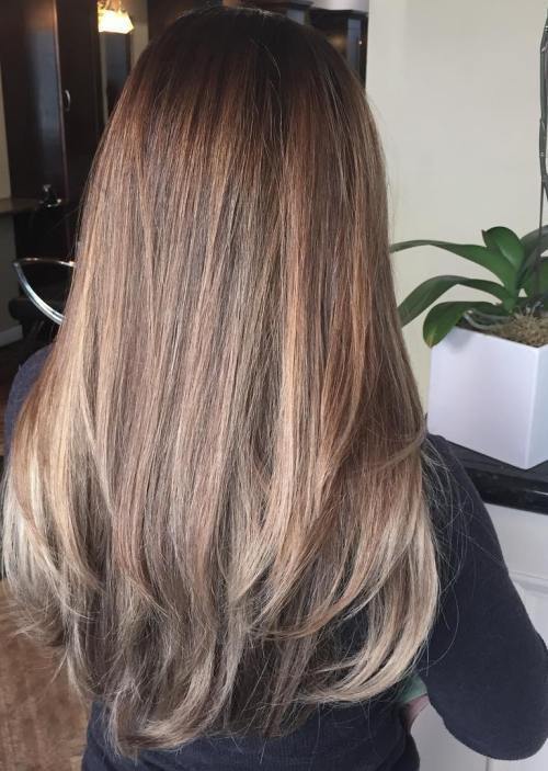 view of simple balayage hair