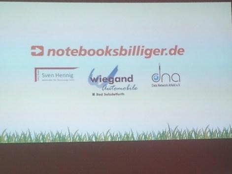 Bild von den Sponsoren des Summercamp Alfeld