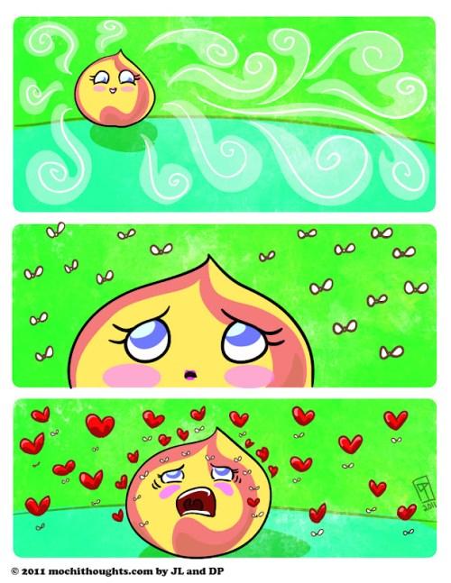 Cute Food Comic, Love Bites