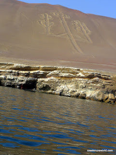 The Candleabra geoglyph at Paracas, Peru