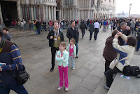 Long lines as far as the eye can see outside San Marco Square