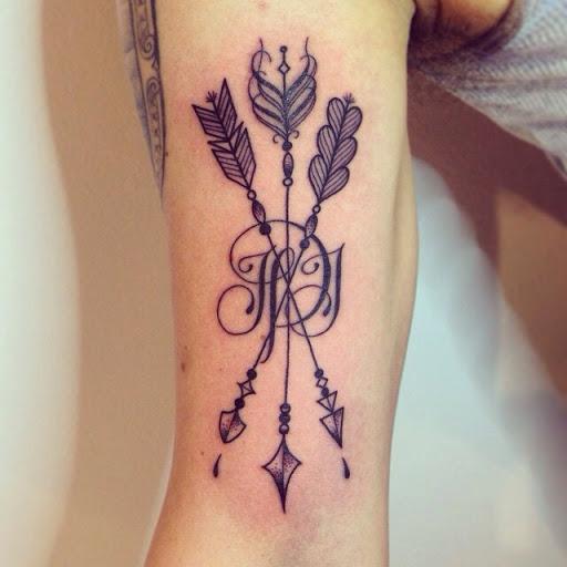 crossing arrow tattoos