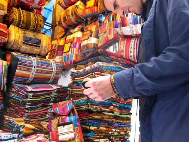 The amazing choices in Otavalo market, Ecuador