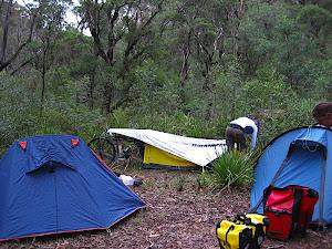 Andy's amazing bike tent