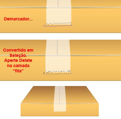 recorte da fita adesiva